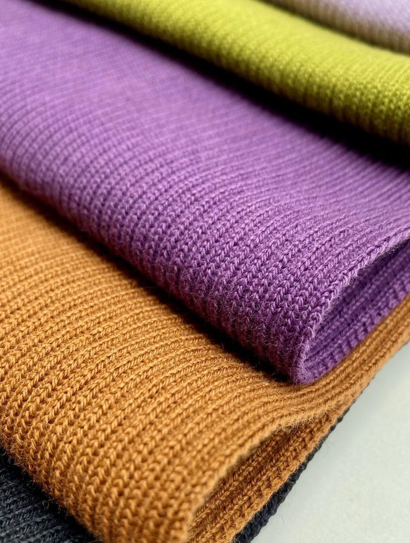 Knitted Organic Cotton Ribbing Fabric